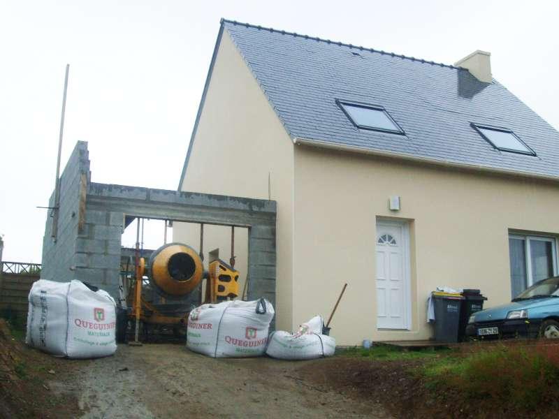 Construction de garage en parpaing r ma onnerie for Garage bois ou parpaing
